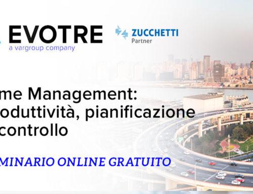 """Webinar """"Time Management:  produttività, pianificazione e controllo"""""""