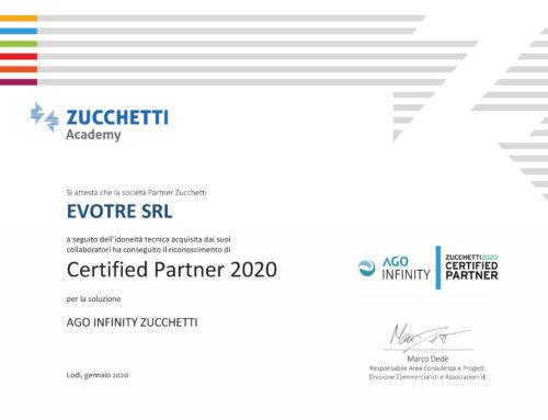 Le nostre certificazioni Zucchetti 2020