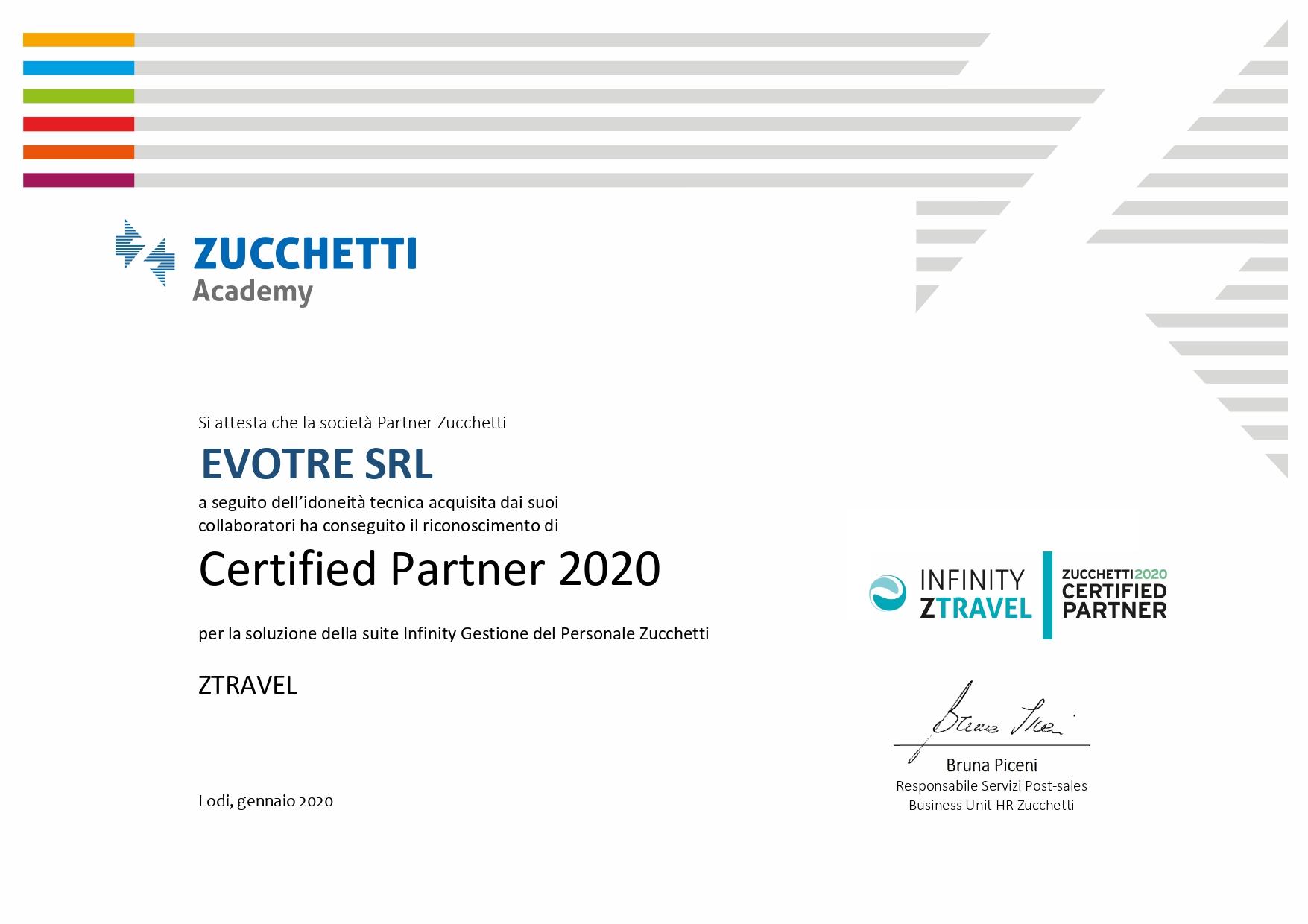 Attestato_certificazione_ZTravel_EVOTRE
