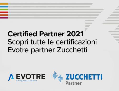 Evotre Certified Partner 2021 Zucchetti