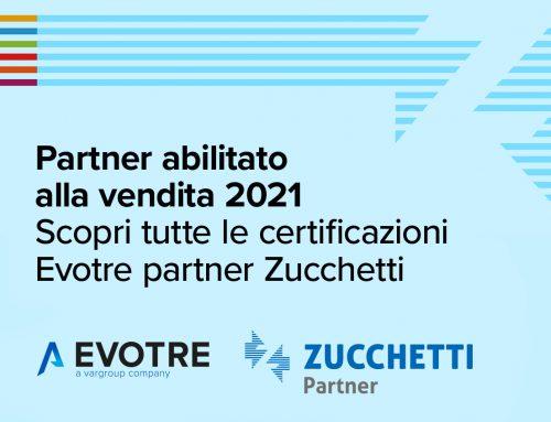 Evotre Partner abilitato alla vendita 2021 Zucchetti
